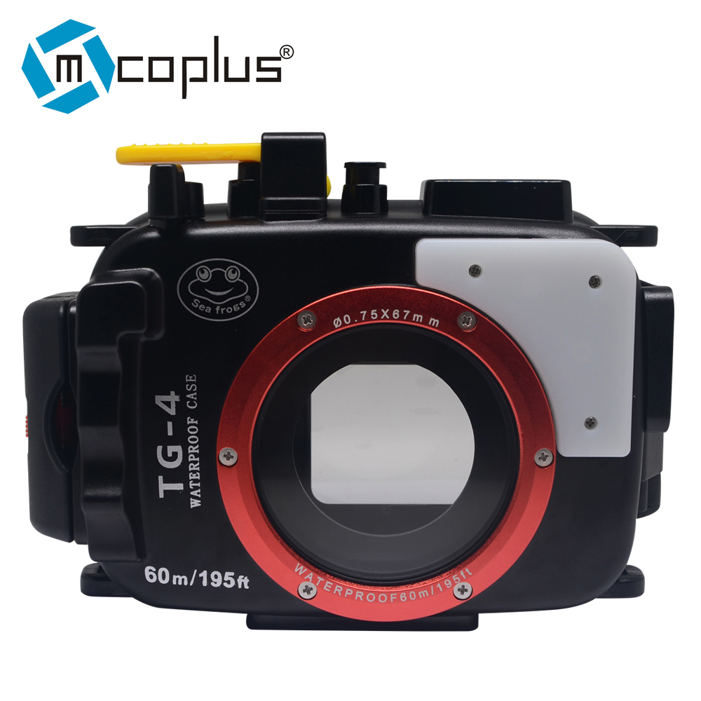 Mcoplus 40m/130ft Underwater Waterproof Case Diving Housing Camera Bag for Olympus TG-4 TG4 Camera mcoplus 40m 130ft diving camera underwater waterproof housing case for canon powershot g1 x g1x