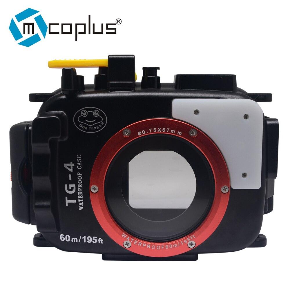 Mcoplus 40m/130ft Underwater Waterproof Case Diving Housing Camera Bag for Olympus TG 4 TG4 Camera