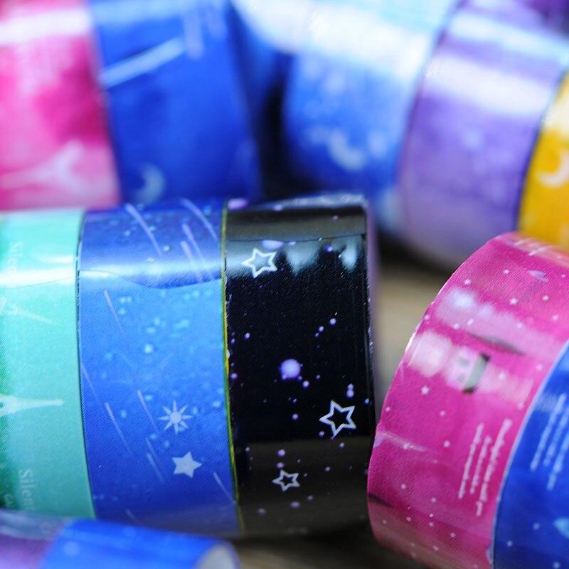 10 Pcs/ Set Candy Hot Sky Tape Decoration Roll DIY Decorative Sticky Paper Masking Tape Self Adhesive Tape Scrapbook Tape Set