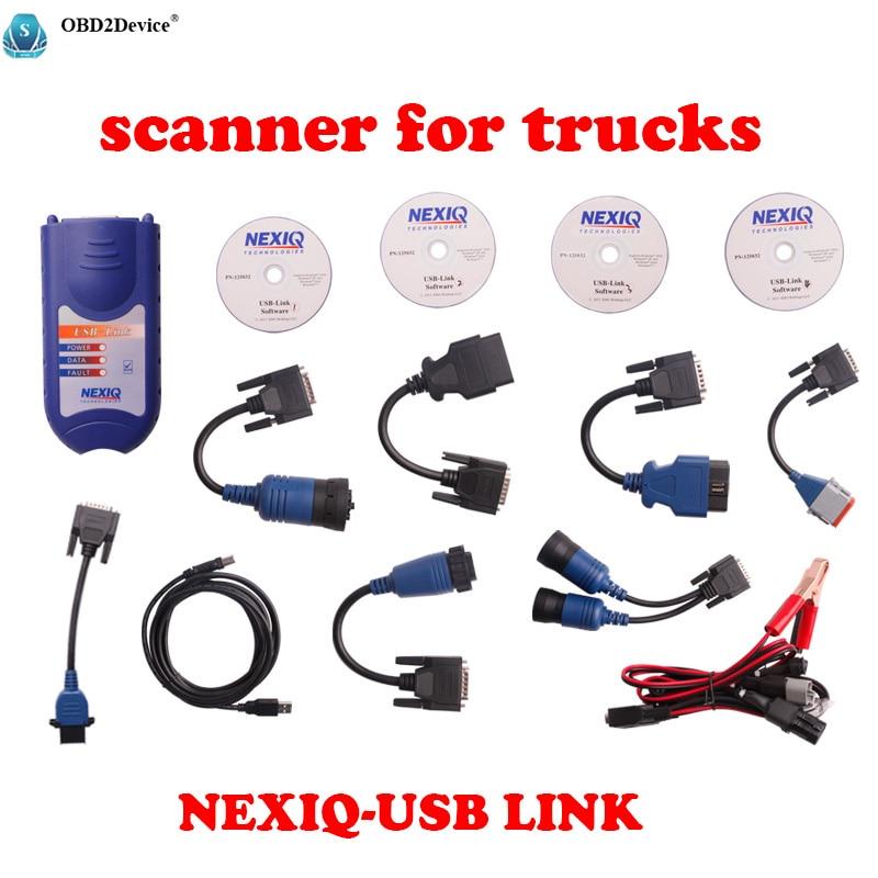 Professionnel scanner pour camions NEXIQ de diagnostic-outil NEXIQ 125032 USB Lien Auto Heavy Duty Truck Scanner outil Livraison gratuite