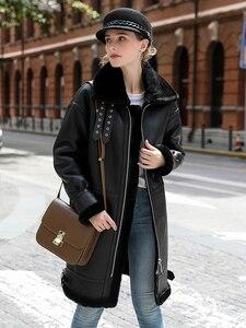 Image 3 - OFTBUY réel manteau de fourrure veste dhiver femmes Double face fourrure en cuir véritable manteau naturel fourrure de mouton épais chaud Streetwear vêtements dextérieur