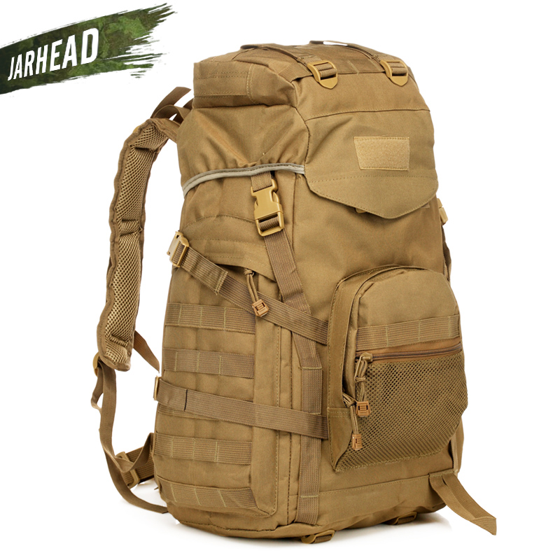Outdoor Tactical Backpack 60L Military bag Army Trekking Sport Travel Rucksack Camping Hiking Camouflage Bag Assault