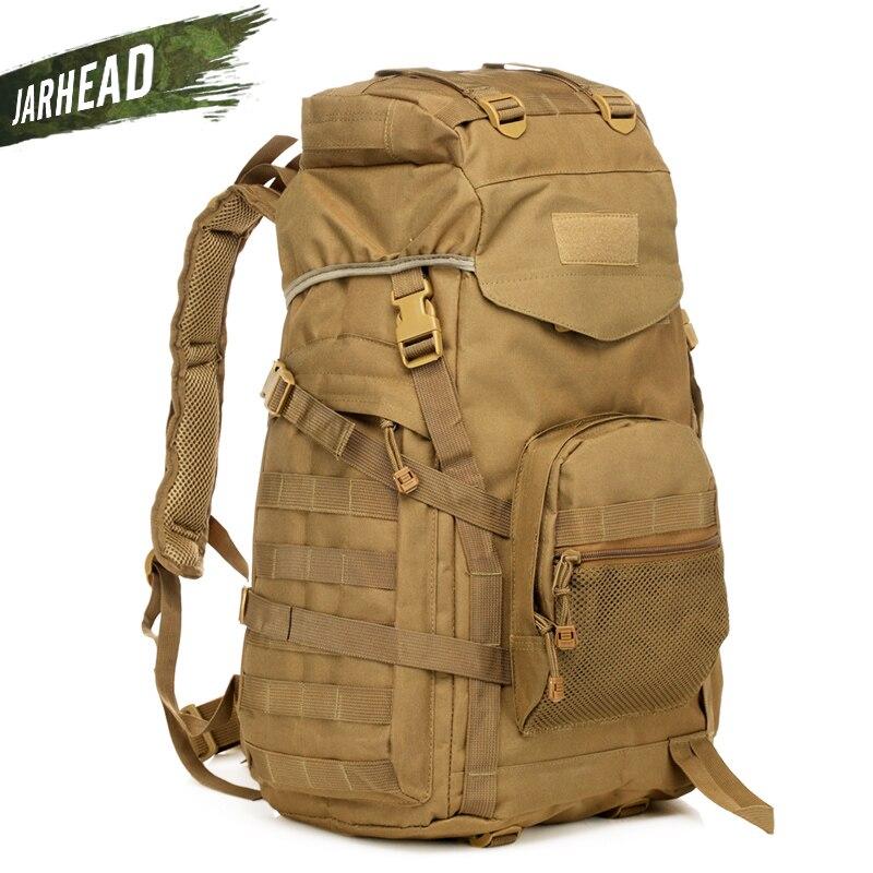 Sac à dos tactique extérieur 60L sac militaire armée Trekking Sport voyage sac à dos Camping randonnée Camouflage sac d'assaut sac à dos