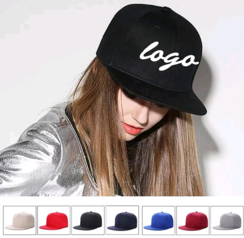 35fb73fe55 Hot Sale] DIY Logo flat cap Custom made Brand Baseball Cap Snapback ...