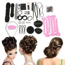 20PCS/set Women Magic Braiders Hair Twist Styling Clip Stick Bun Maker Braid