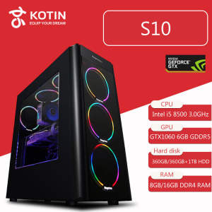 PC Gaming Computer SSD Desktop KOTIN GTX Colorful 500W 8GB Fan S10 Intel 8500 1060 6GB