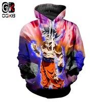 OGKB Japanese Cartoon Men 3d Print Dragon Ball Z Sun Goku Sweatshirt Hoodie Man Street Wear Black Hooded Hoody Sweats Harajuku