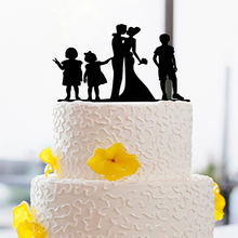 Decoration Unique Family Happiness Life Cake Topper Creative Annivers Wedding Cake Toppers Letter Cake Toppers Custom