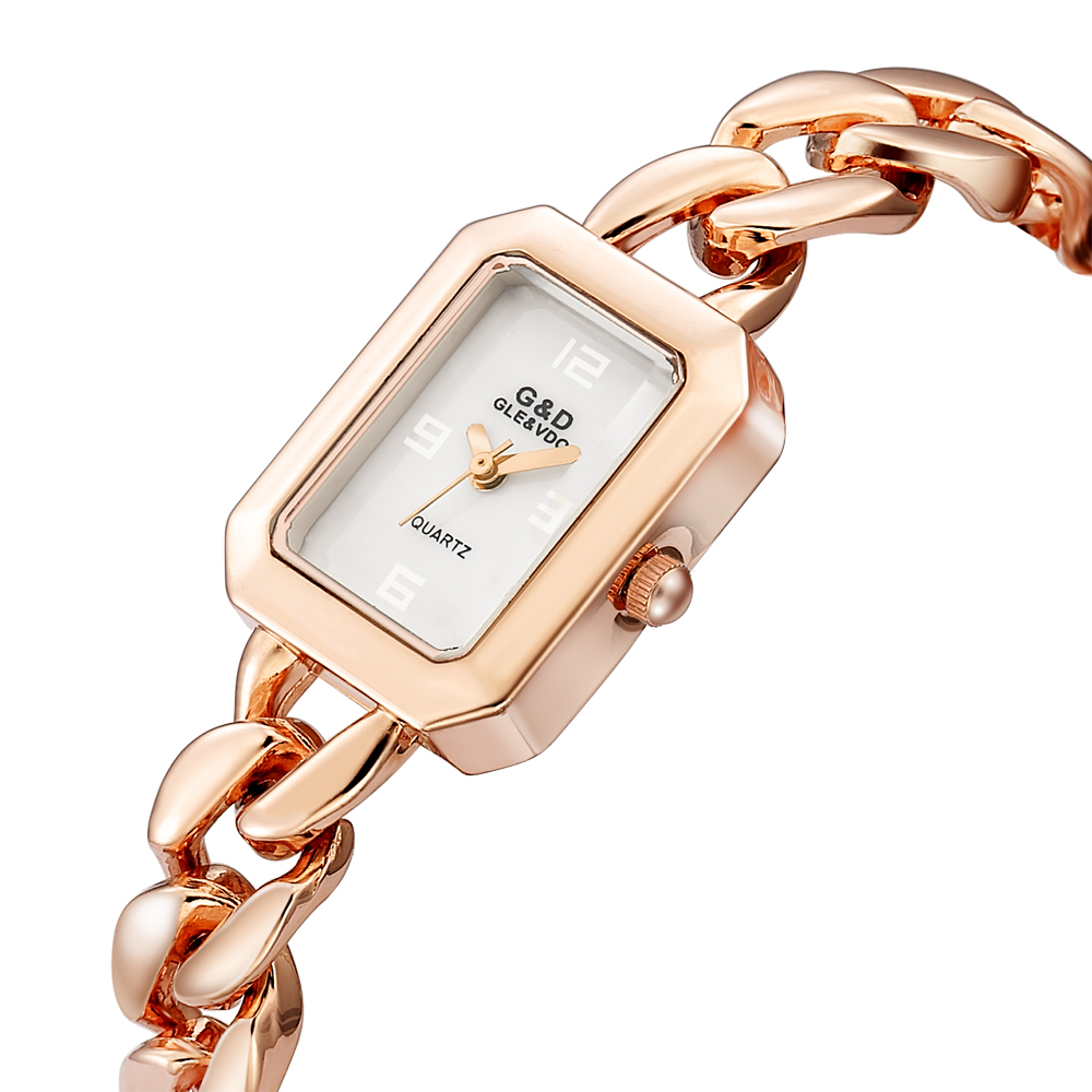 New! G&D Rose Gold Womens Bracelet Watches Luxury Brand Laides Quartz Wristwatch Rectangle relogio feminino reloj mujer Clock New! G&D Rose Gold Womens Bracelet Watches Luxury Brand Laides Quartz Wristwatch Rectangle relogio feminino reloj mujer Clock