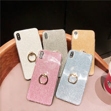 Silicone Bling Glitter Phone Case For Huawei Mate 20 Lite Soft TPU Ring Cover For Honor 10 Lite 8X 8C P20 P30 Pro Coque Fundas(China)