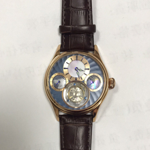 ESOPO Tourbill de Luxo Homens Relógio de Pulso Mecânico Pulseira de Couro Multifunções À Prova D' Água Relogio masculino 31