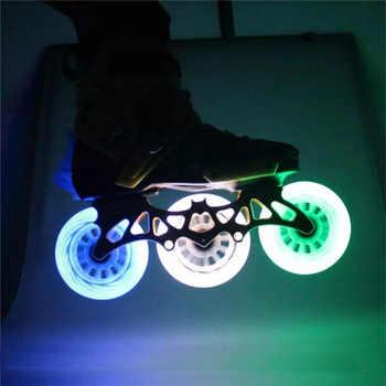 JEERKOOL LED Flash Skates Roller Original 85A Inline Speed Skates Wheel 90/100/110mm Flash Wheel For Powerslide Patins LZ20