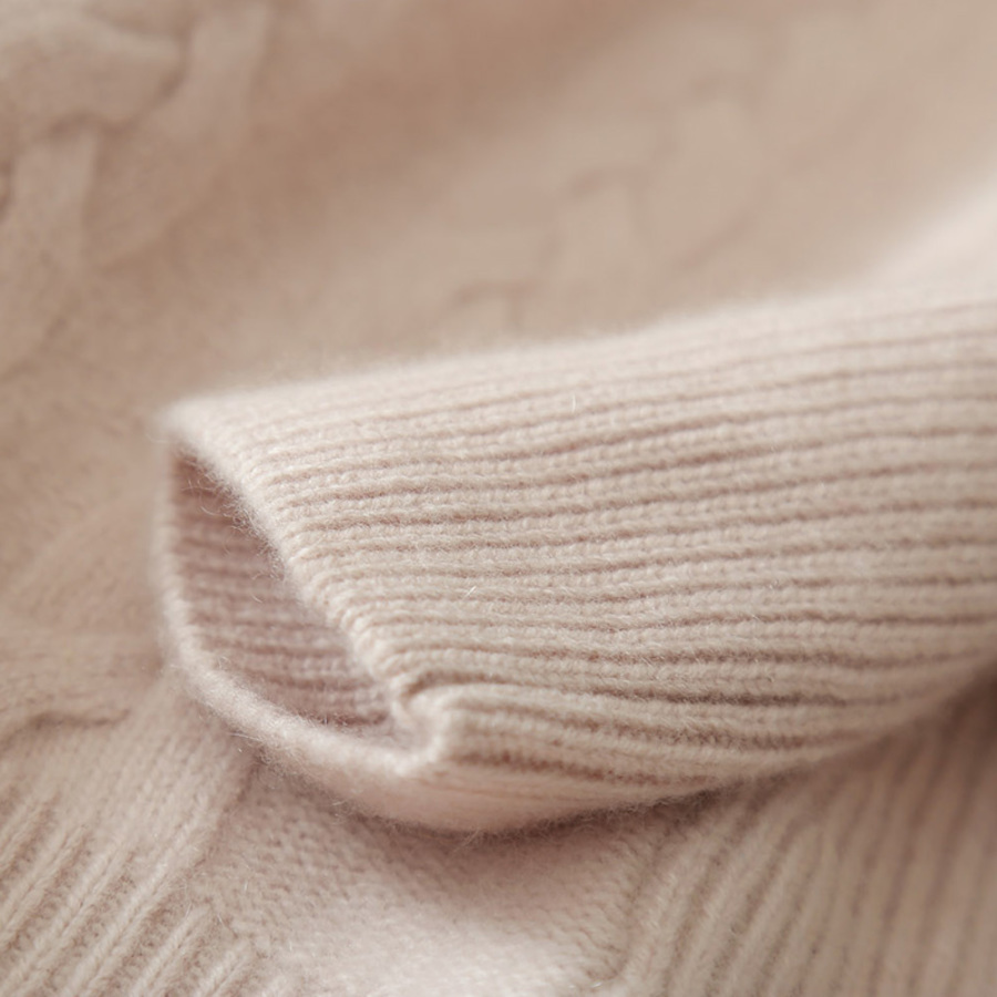 Roulé Pur Automne Beige Épais Col Hiver Nouveau Cachemire Chandail Chemise Mode Jaune Moitié Femmes gray pink Tordu De Fleurs xfnqqFw1
