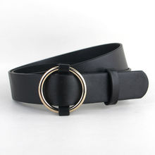 Newest Gold Round buckle font b belts b font female HOT leisure jeans wild font b