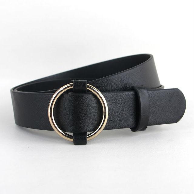 Plus récent Or Rond boucle ceintures femme CHAUDE loisirs jean en argent  sauvage sans broche boucle fd87c964a86
