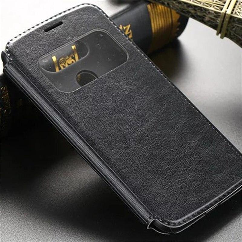 Para LG G5 alta calidad Windows moda de lujo de diseño holster Flip casos de  cuero cubierta trasera dace5d738b53