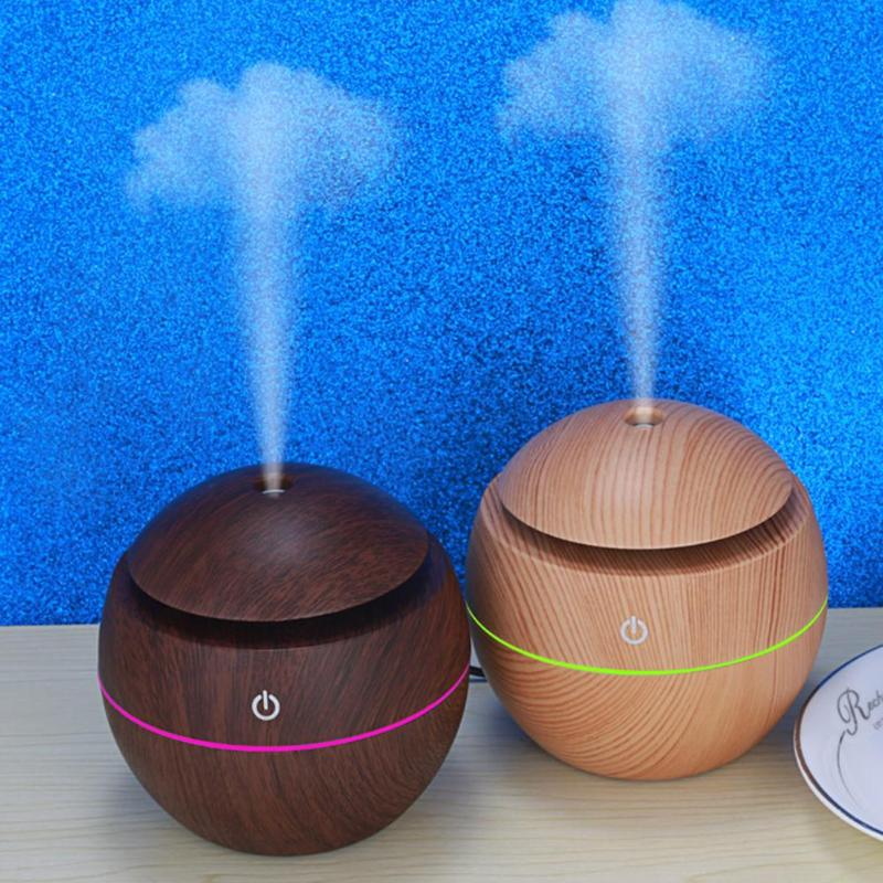 Aroma Essential Oil Diffuser Ultrasonic Humidifier Mini Cool Mist Humidifier USB Air Purifier 7 Color Change LED Night light