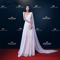 2018 Long Cheap Mint Green Bridesmaid Dresses One Shoulder Chiffon A Line Vestido De Madrinha De