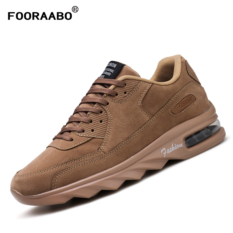 Fooraabo 2017 New Mens Fashion Casual Shoes Spring Autumn Air Breathable Men Sneakers Male Classic Shoes Zapatillas Hombre mens s casual shoes genuine leather mens loafers for men comfort spring autumn 2017 new fashion man flat shoe breathable