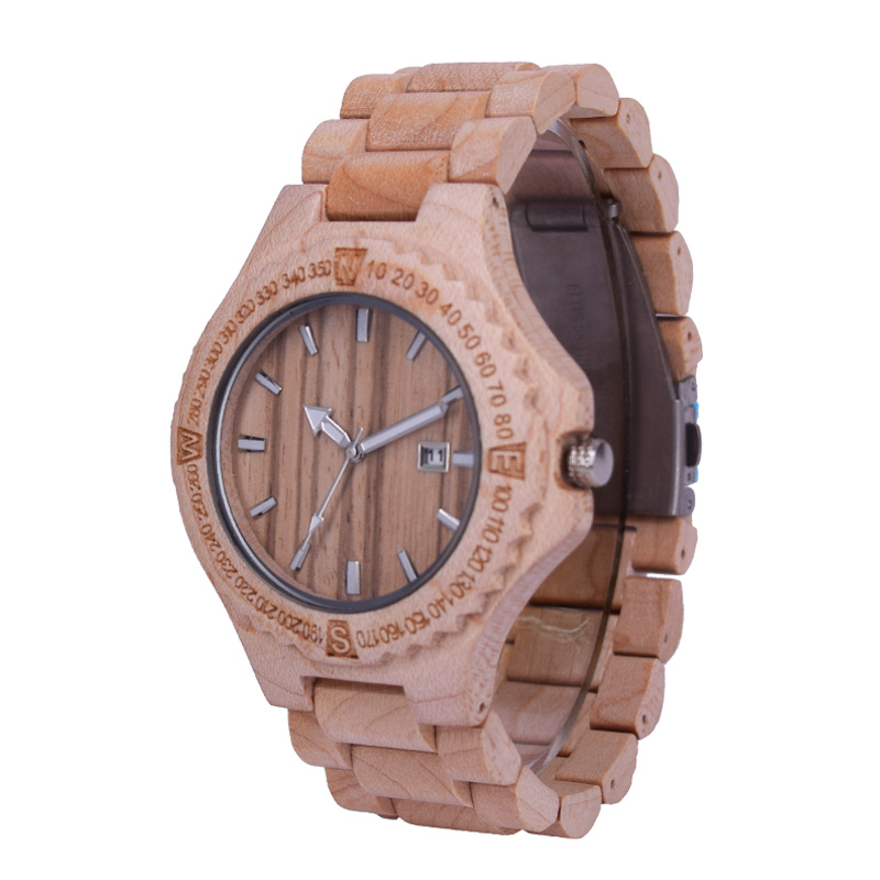 strap brown wooden img scale metal red sandalwood wood watches uk case leather with