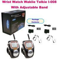Unieke 2 stks polshorloge walkie talkie i met verstelbare band (usa: 22 kanaal, europa: 8 geluidskanalen) mini horlogeband radio voor kinderen