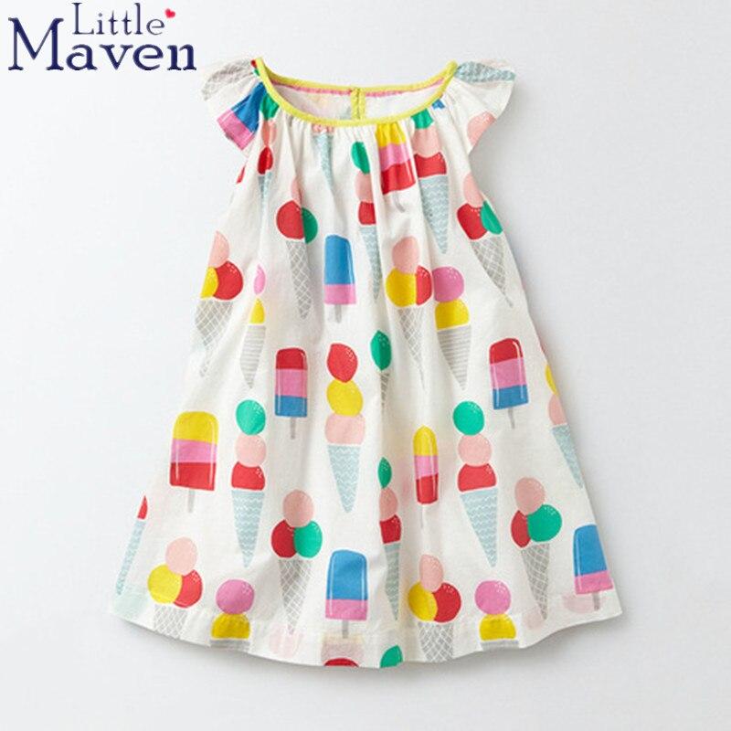 92f7deac5 Little maven children brand 2018 Summer New baby girls 100% Pure ...
