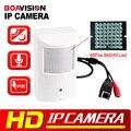 HD 720 P 1080 P Cámara IP POE + Leds 940nM Visión Nocturna PIR Estilo En Tiempo Real + Audio, P2P ver Cámara de 2MP CCTV 1.0MP Onvif
