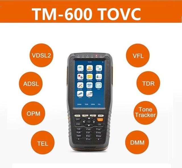 TM 600 TOVC VDSL VDSL2, probador ADSL WAN y LAN, equipo de prueba de línea xDSL con todas las funciones (OPM + VFL + rastreador de tonos + TDR)