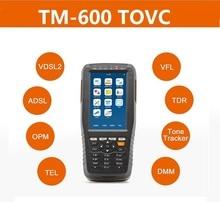 TM 600 tovc vdsl VDSL2テスターadsl wan & lanテスターxdslテスト機器すべての機能 (opm + vfl + トーントラッカー + tdr)