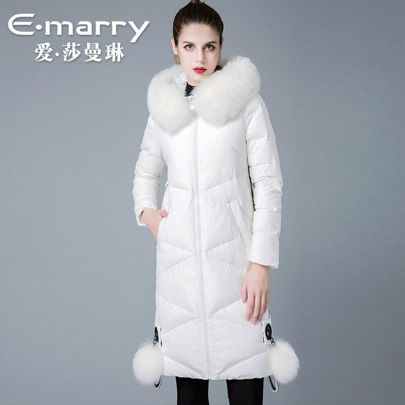 The new winter 2018 brand ladies fox collars wholesale 8841177 90 white duck   down     coats   women   coat
