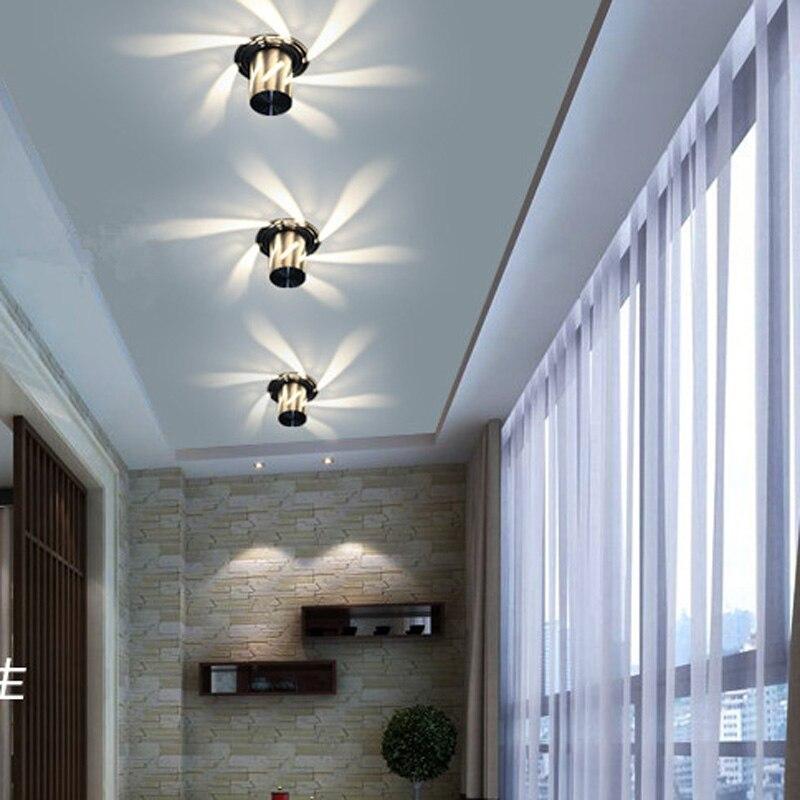 Modern Colorful LED Ceiling Light 3W warm / cool white LED Ceiling Lamp ktv bar  decoration Channel, porch, aisle lightsModern Colorful LED Ceiling Light 3W warm / cool white LED Ceiling Lamp ktv bar  decoration Channel, porch, aisle lights