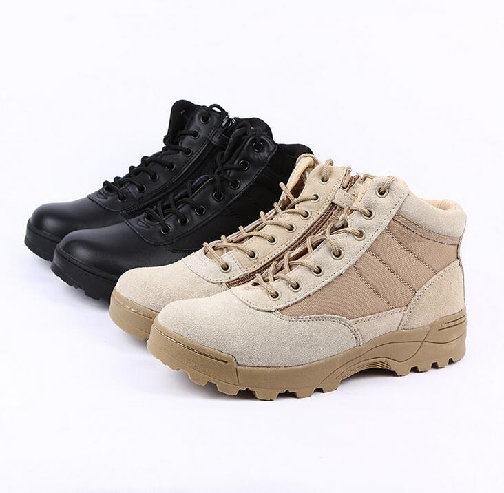 Bright 2018 New Men Military Bots Tactical Boots Desert Combat Outdoor Bot Army Hiking Boots Leather Autumn Ankle Boots Winter Boots Shoes