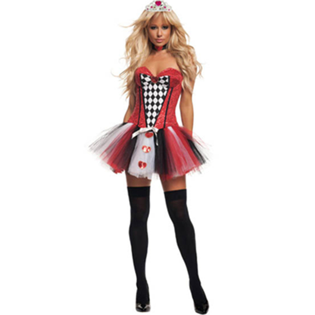 2015 Cute Strapless New Design Halloween Fancy Fairy Dress Adult Queen Costume Womenu0027s Feisty Queen of  sc 1 st  AliExpress.com & 2015 Cute Strapless New Design Halloween Fancy Fairy Dress Adult ...