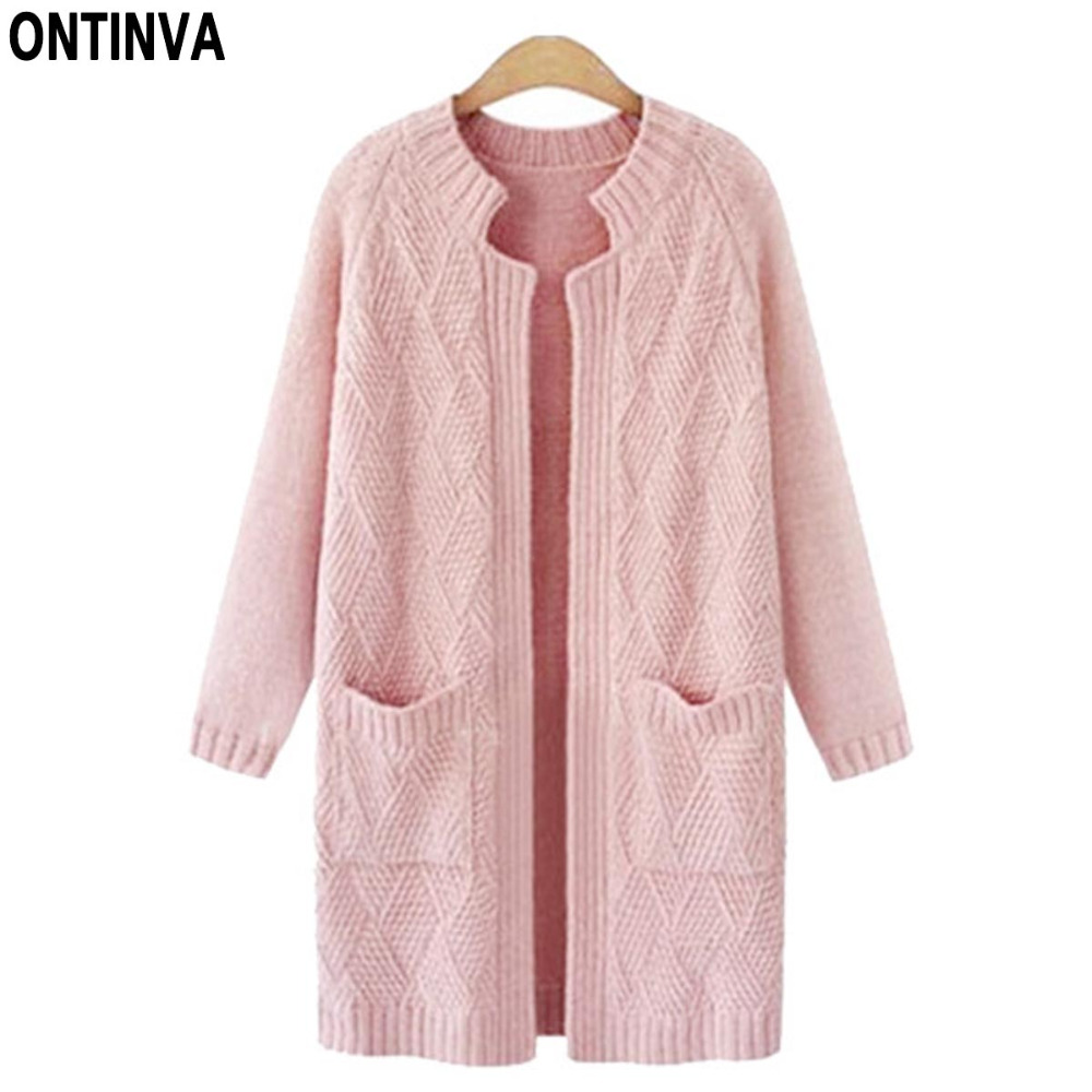 Aliexpress.com : Buy Pink Plus Size Cute Cardigans Sweater Woman ...