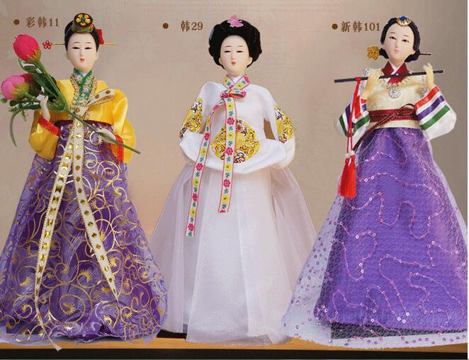 Japan Korea doll furnishing articles Korean silk Korean food home decoration craft gift beauty women arts crafts