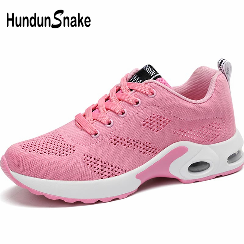 Hundunsnake Summer Baskets Femme Sneakers Woman Sports Shoes Sport Women Running Shoes Breathable Scarpe Donna Pink Tennis A-063