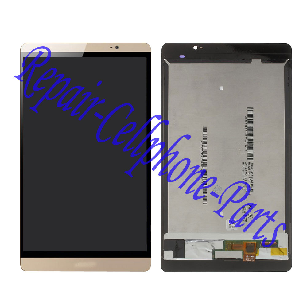Gold Full LCD DIsplay + Touch Screen Digitizer Assembly For Huawei Mediapad M2 8.0 M2-801L M2-802L M2-803L white golden for huawei mediapad m2 lcd m2 801w lcd omplete with digitizer assembly original aaa tested quality free shipping