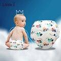 Niños Lindos de la Historieta Del Bebé Pañales Reutilizables Pañal de Tela respirable Suave Pantalones Del Entrenamiento Del Bebé Pañales de Tela Lavables
