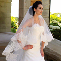 Hot Sale 3 Meters Long Cathedral Wedding Veil Bridal Veils Soft Tulle Lace Edge With Comb Luxury veu de noiva 3 metros