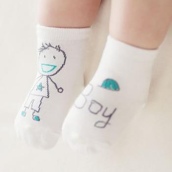 Baby Socks Cotton Asymmetry Toddler Spring Autumn Winter Cartoon Cute Anti-slip