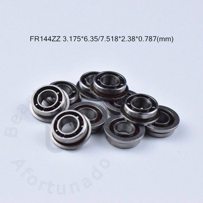 FR144 FR144ZZ 3.175*6.35*7.518*2.38*0.787(mm) 10pieces bearing Flange bearings   FR144ZZ chrome steel deep groove bearing