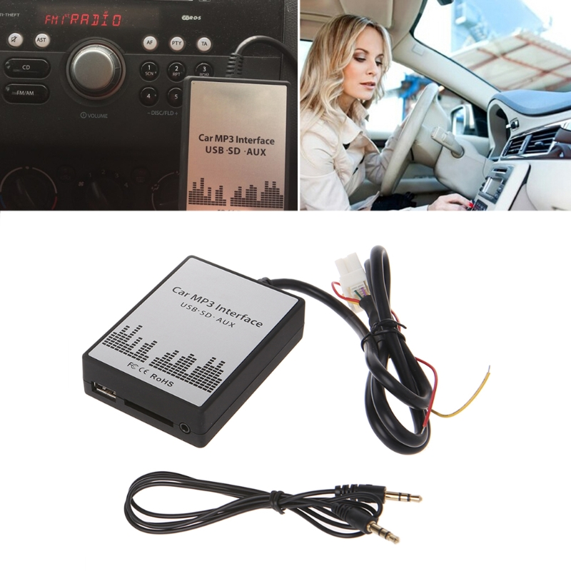 OOTDTY USB SD AUX Car MP3 Music Adapter CD Changer Audio Adapte For Nissan Almera Maxima Teana Infiniti FX\EX 4+8PIN Interface image