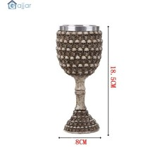 3D Skull Home Stainless Coffee Cup Steel Wolf Goblet EZESO Resin 3D Stainless Steel Tea Dropshiping18Nov14(China)