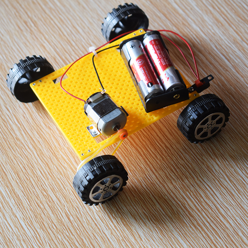 Electric toy car/remote control car/scientific physics experimental Educational toys/DIY technology production/puzzle/baby toys