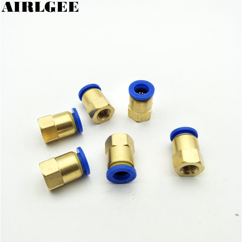 5pcs 9mm 1/8PT Thread 10mm Tube Plasitc Sleeve Pneumatic Quick Connect Fitting PCF10-01 tube size 14mm 1 4 pt thread pneumatic