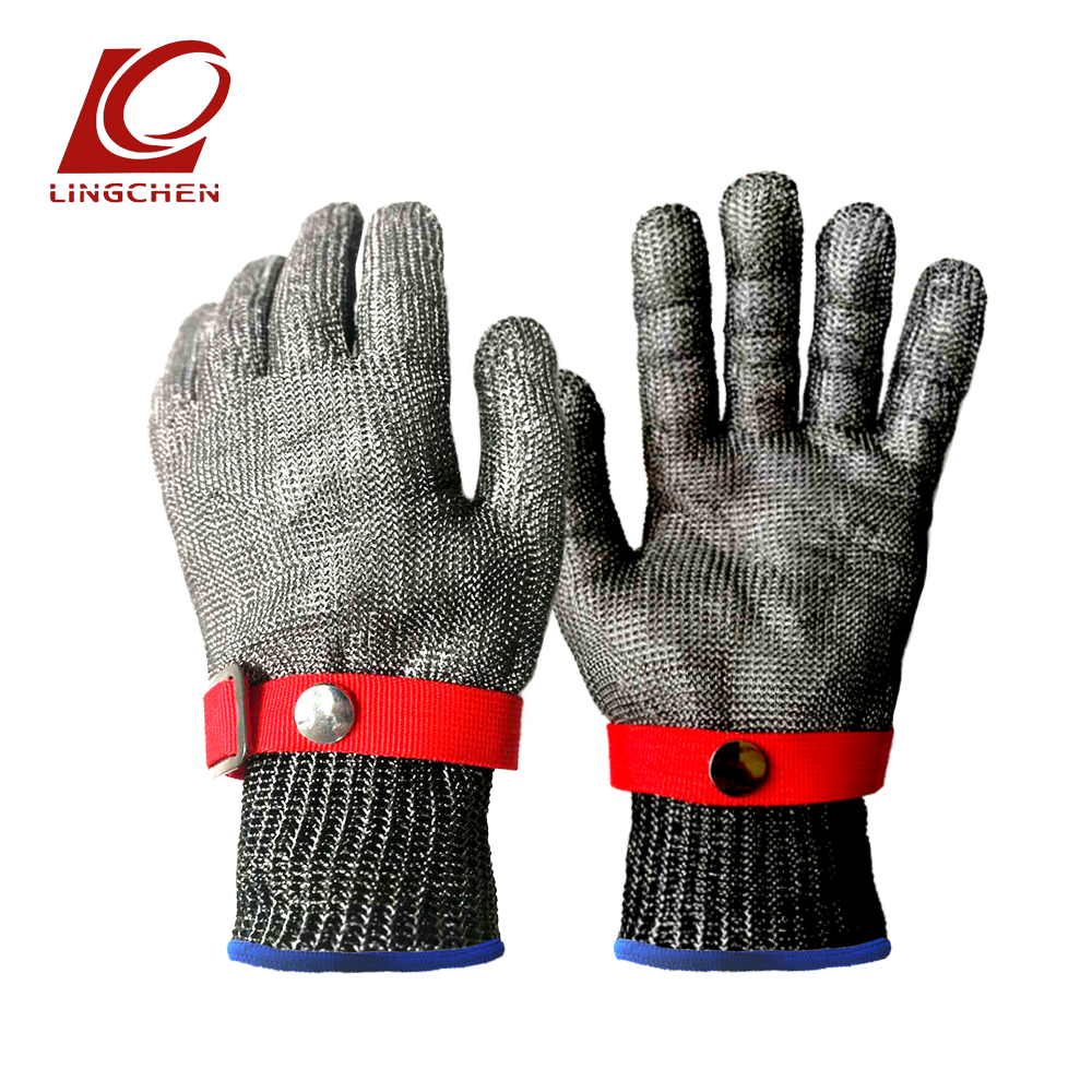 Stainless Steel Wire Gloves Safety Cut Proof Stab Cut-Resistant Work Glove Metal Mesh Chain mail Butcher Anti-cutting mitten