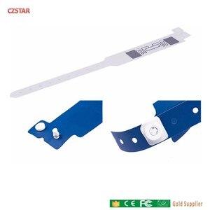 Image 4 - חד פעמי PVC UHF RFID תג מטופל בבית חולים מזהה לשימוש חוזר סיליקון rfid uhf צמיד תג בית ספר ספורט מירוץ