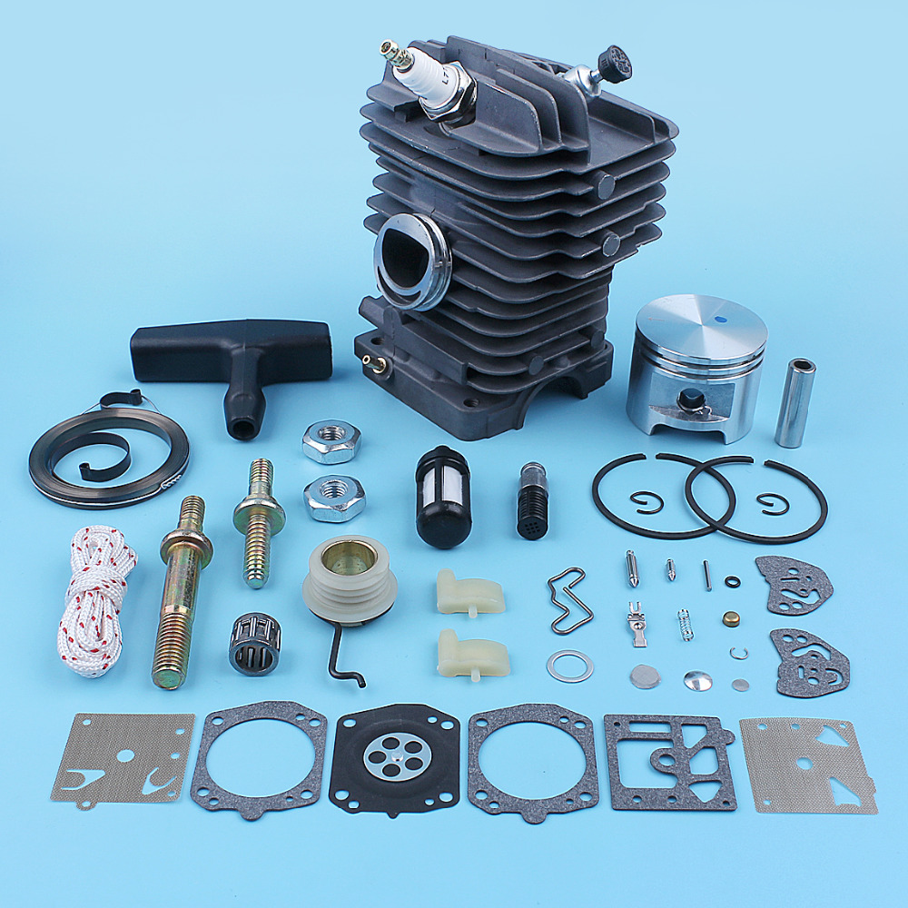 47mm Cylinder Piston Carb Kit For Stihl MS290 MS310 029 MS390 039 MS 290 310 390 Chainsaw Bar Stud Nut Starter Rope Repair Parts