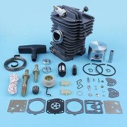 47mm Zylinder Kolben Carb Kit Für Stihl MS290 MS310 029 MS390 039 MS 290 310 390 Kettensäge Bar Stud mutter Starter Seil Reparatur Teile