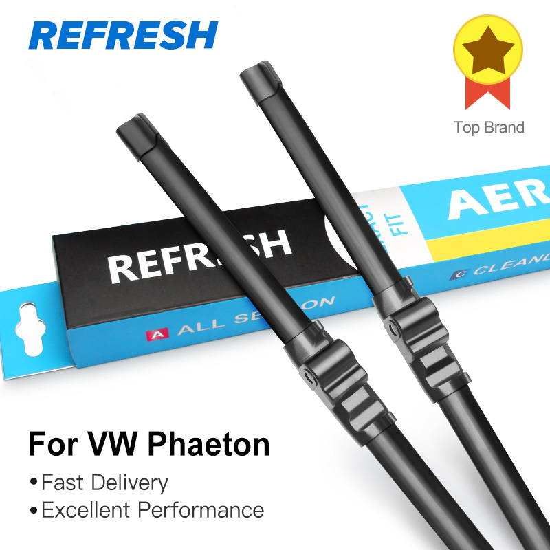 REFRESH Щетки стеклоочистителя для Volkswagen VW Phaeton Fit Side Pin Arms 2002 2003 2004 2005 2006 2007 2008 2009 2010 2011 2012 2013